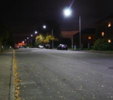 Testanläggning med LED för gatumiljö